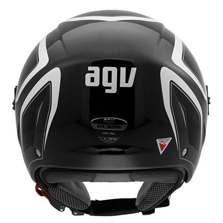 Capacete AGV Blade Tab Aberto Cor: Preto Branco