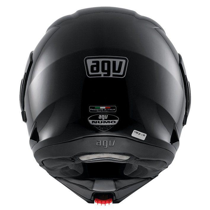 Capacete AGV Numo Evo Escamoteável Mono Solid Cor: Preto Brilhante