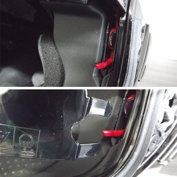 Capacete AGV Numo Evo Escamoteável Mono Solid Cor: Preto Brilhante (CAPACETE COM AVARIA)