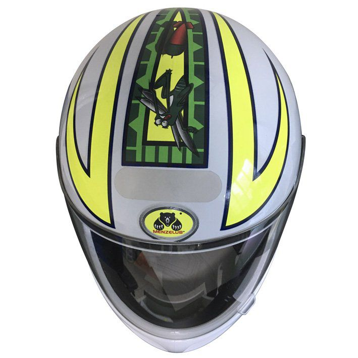 Capacete Fly F-7 Menzelub Racing Oil Cor: Branco