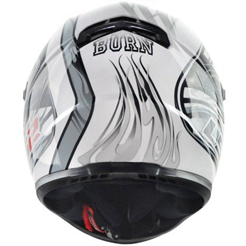 Capacete LS2 FF358 Burn Cor: Gloss Silver