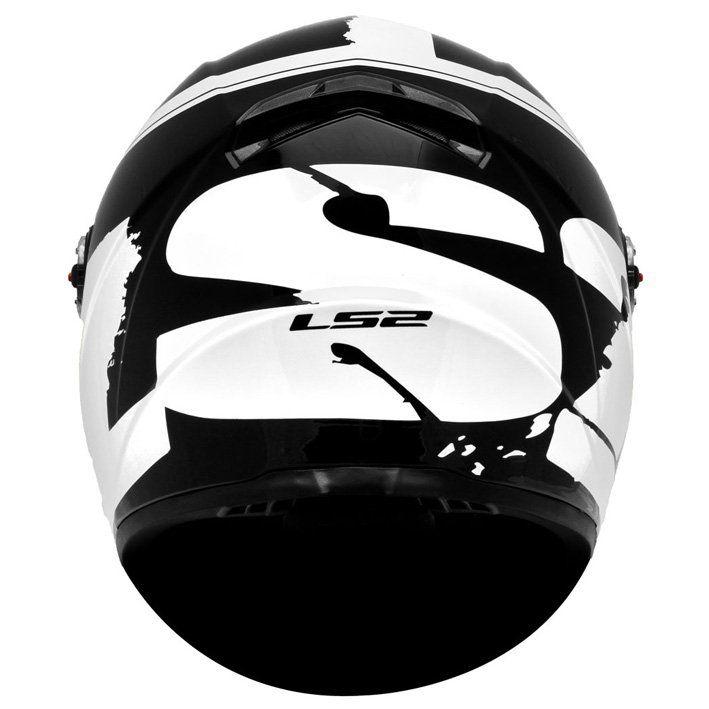 Capacete LS2 FF358 Fluo Cor: Preto Branco