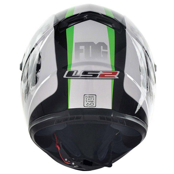 Capacete LS2 FF358 Fog Cor: Branco Verde