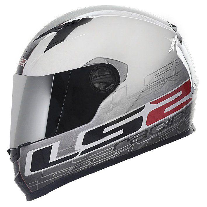 Capacete LS2 FF358 Racing Cor: Preto Branco