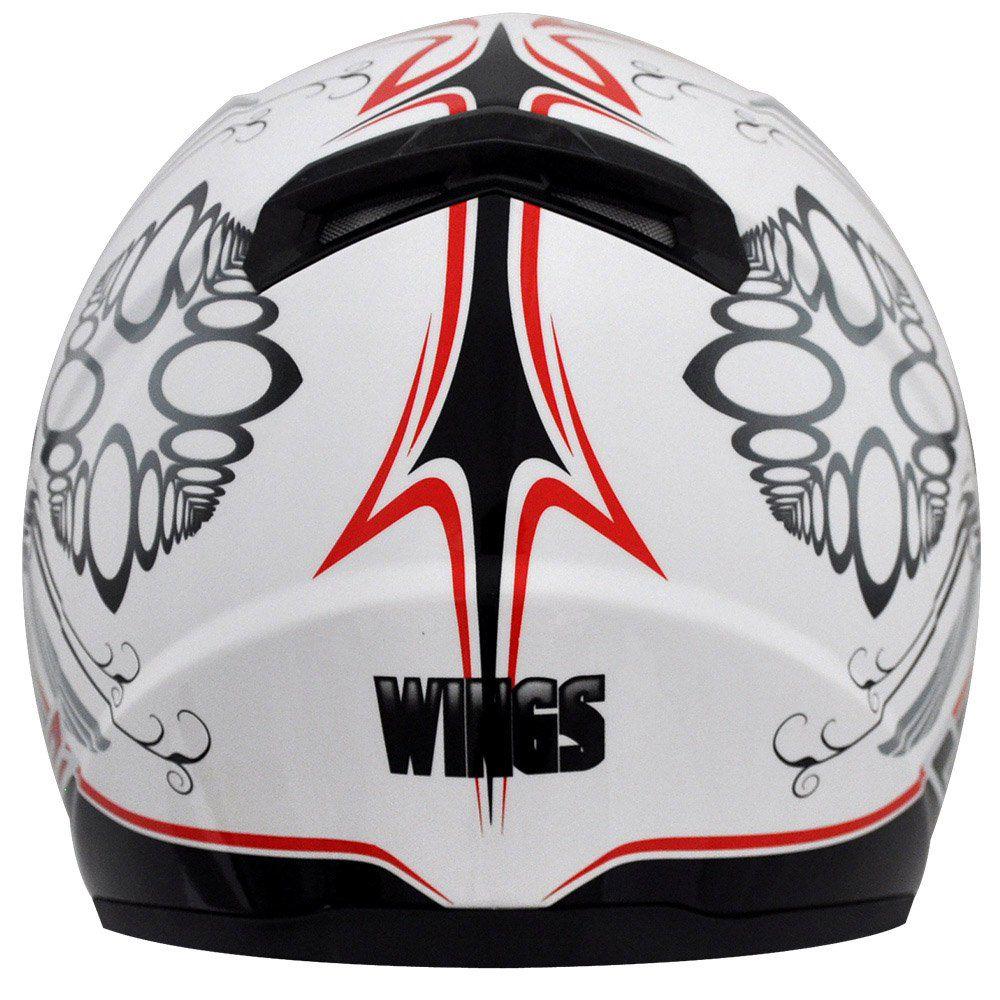 Capacete LS2 FF358 Wings Cor: Branco Vermelho
