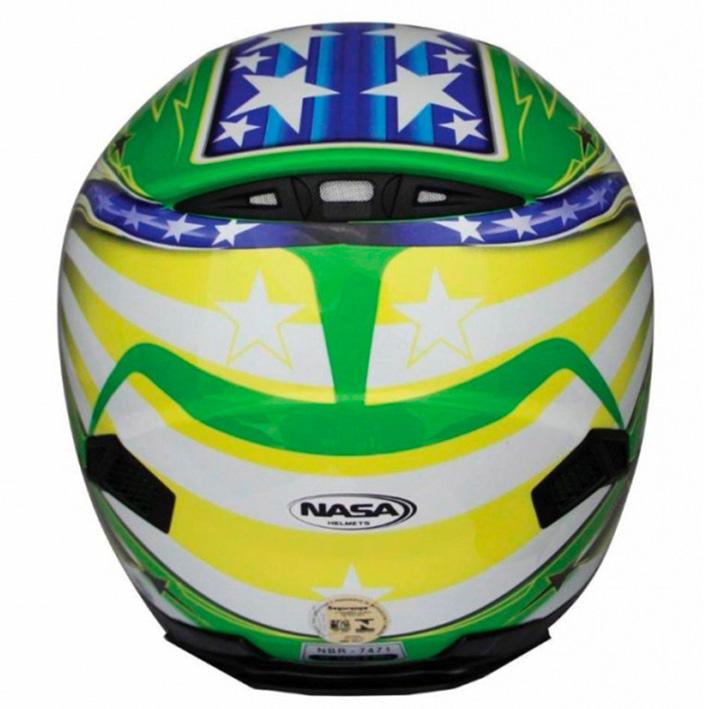 Capacete Nasa SH-821 Brasil Cor: Colorido