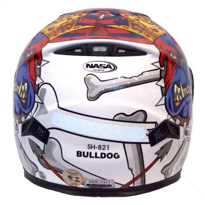 Capacete Nasa SH-821 Bulldog Cor: Branco