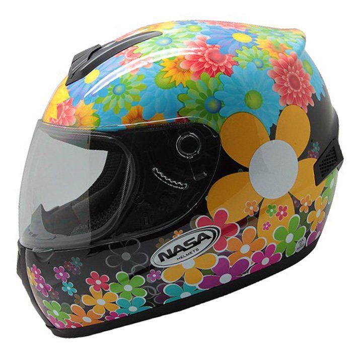 Capacete Feminino Nasa SH-821 Flowers - Tamanho: 60