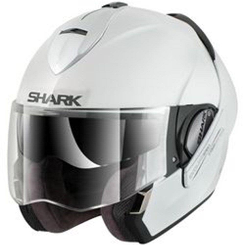 Capacete Shark Evoline Serie 3 Fusion Aberto, Fechado Cor: Branco