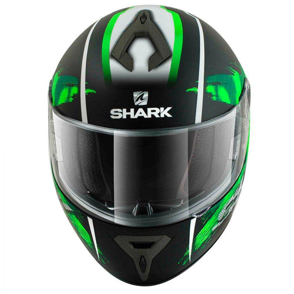 Capacete Shark S700 Exit Matt Cor: Verde Preto