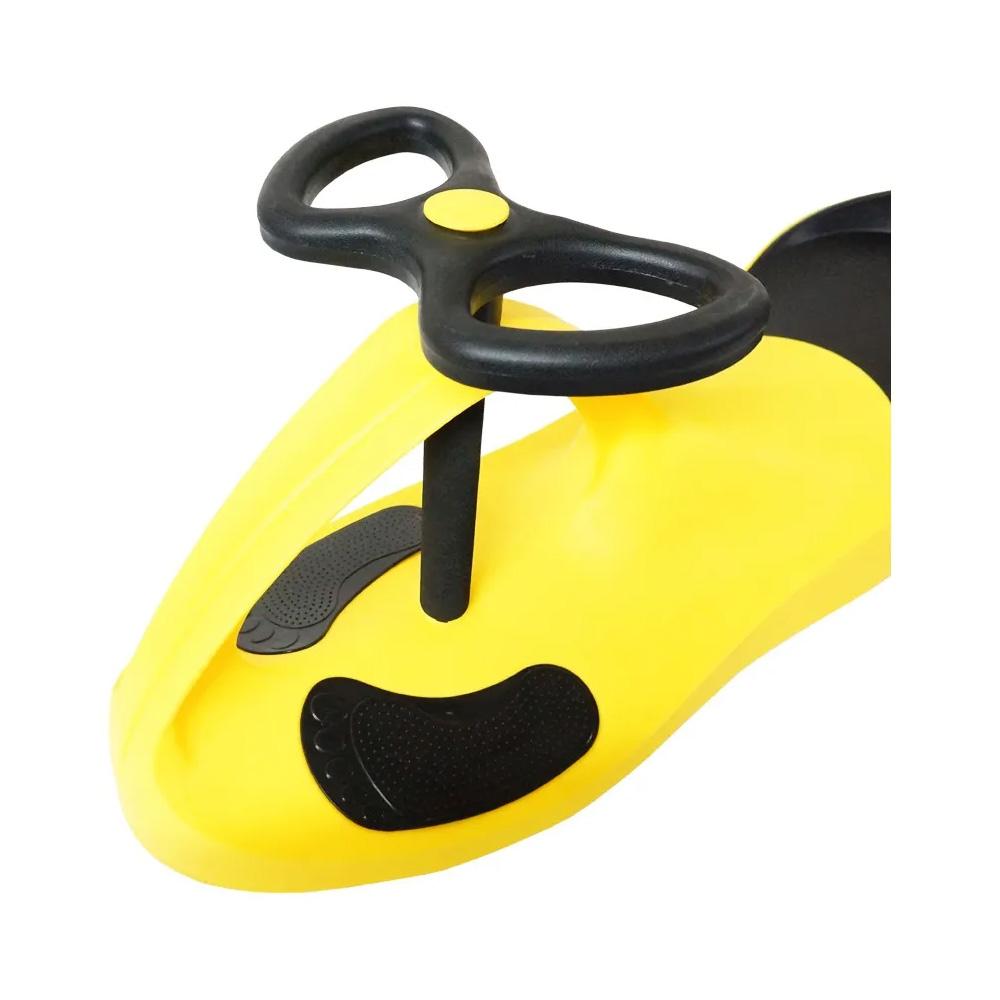 Carro de Rolima Giro Car Carrinho Infantil Gira Gira BW004AM Importway - Amarelo