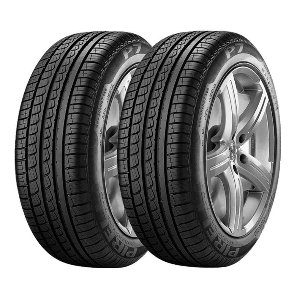 Combo com 2 Pneus 195/60R15 Pirelli P7 88H