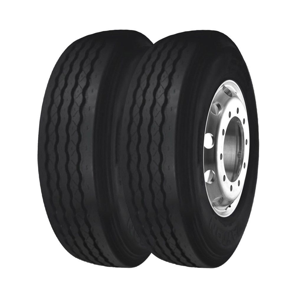 Combo com 2 Pneus 215/75R17,5 Bridgestone Dayton D300 Liso 12 Lonas (10,3mm)