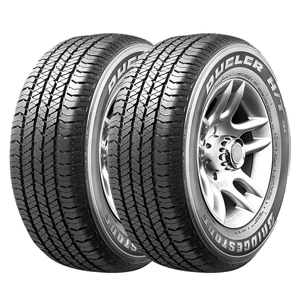 Combo com 2 Pneus 255/60R18 Bridgestone Dueler H/T 684 III Ecopia 112T Amarok #