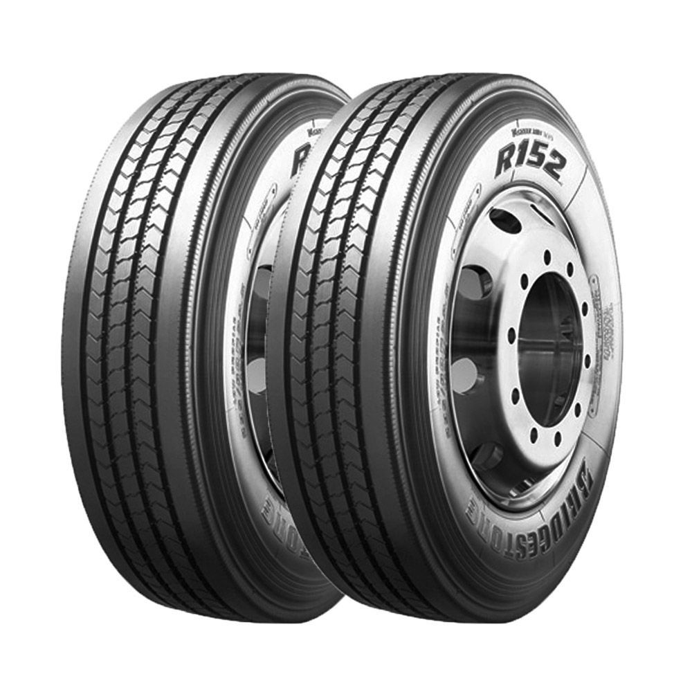 Combo com 2 Pneus 295/80R22,5 Bridgestone R152 Liso 152/148M 16 Lonas