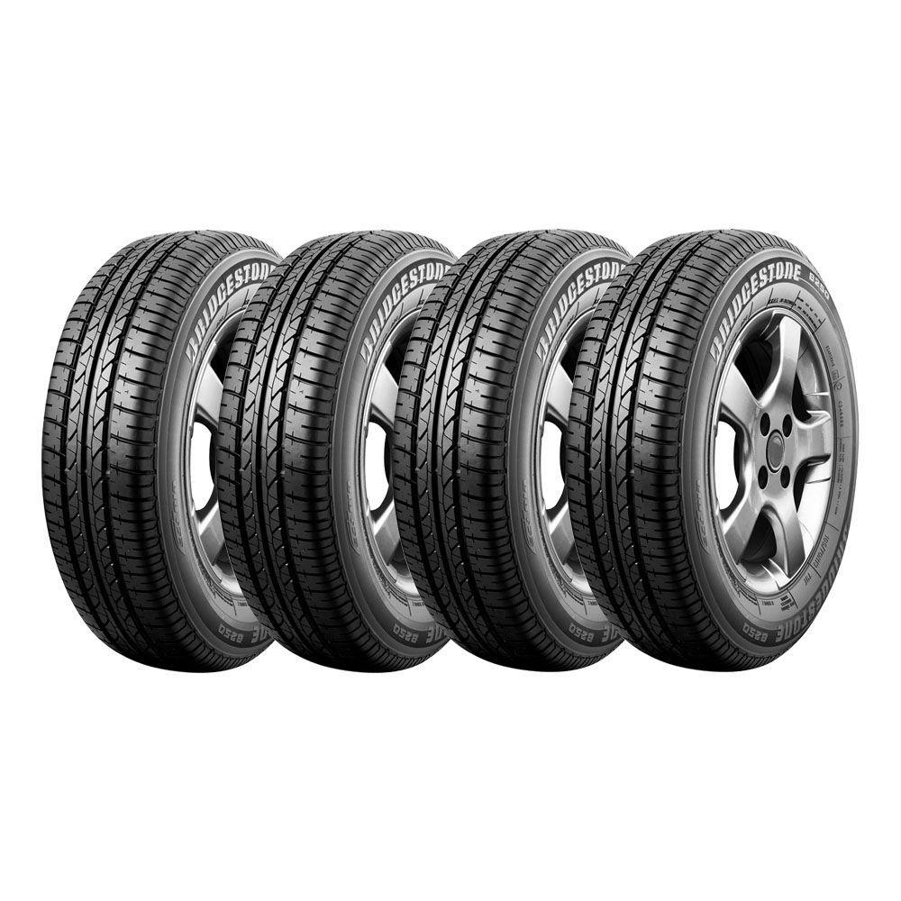 Combo com 4 Pneus 175/65R14 Bridgestone B250 82T