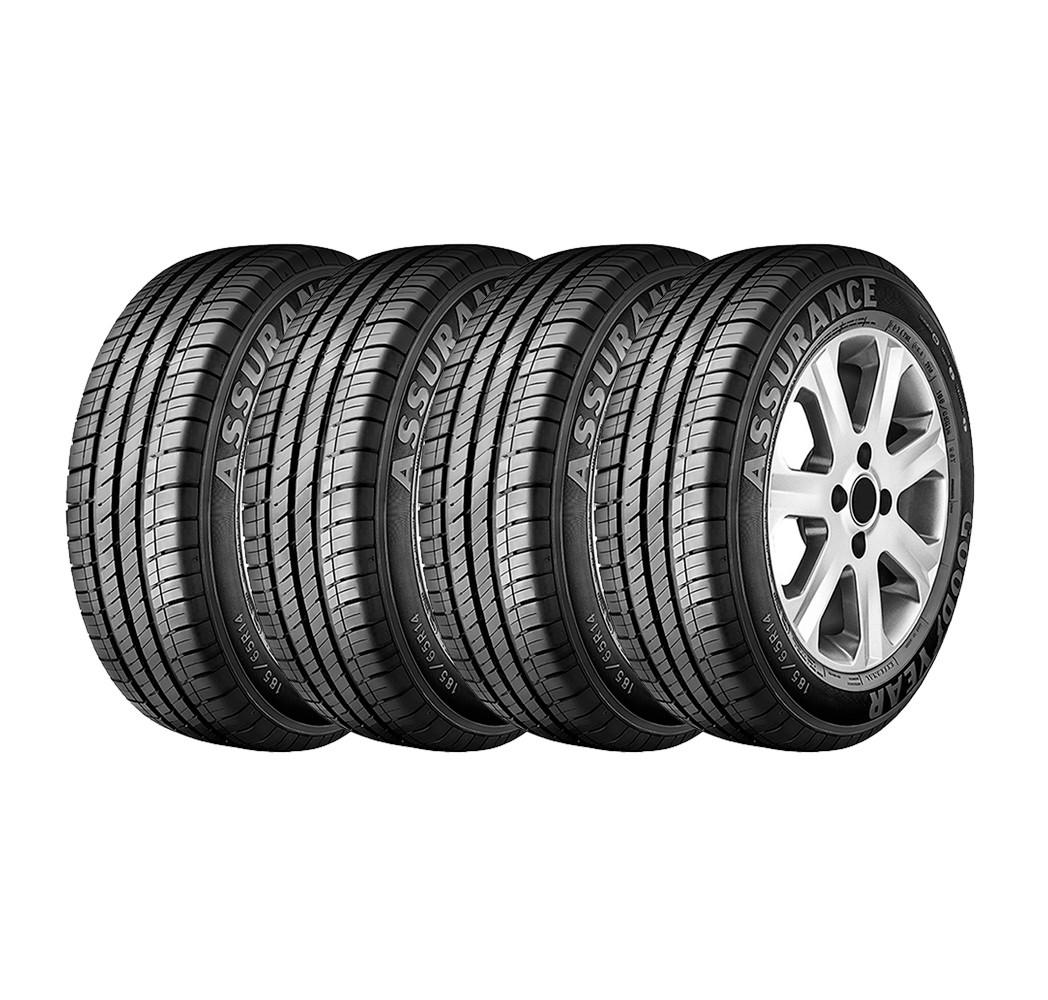 combo com 4 pneus 185 65r14 goodyear assurance 86t. Black Bedroom Furniture Sets. Home Design Ideas