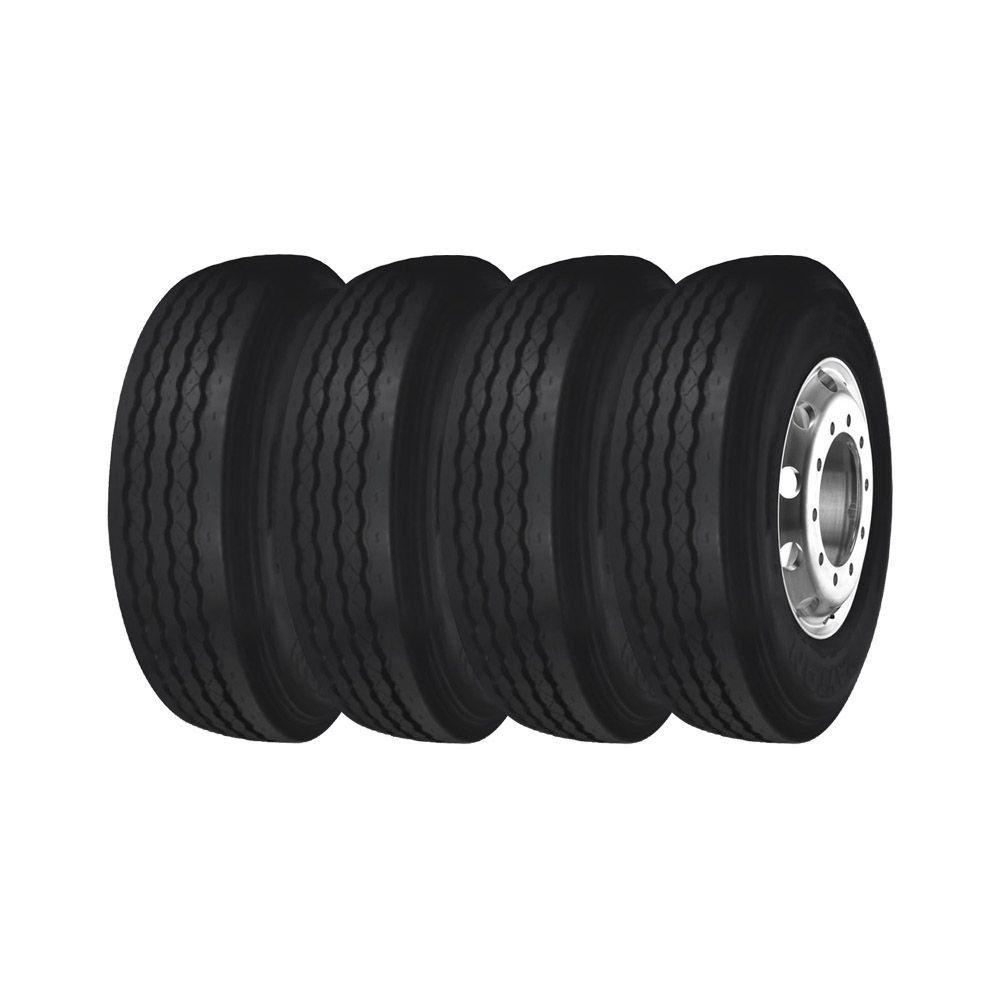 Combo com 4 Pneus 215/75R17,5 Bridgestone Dayton D300 Liso 12 Lonas (10,3mm)