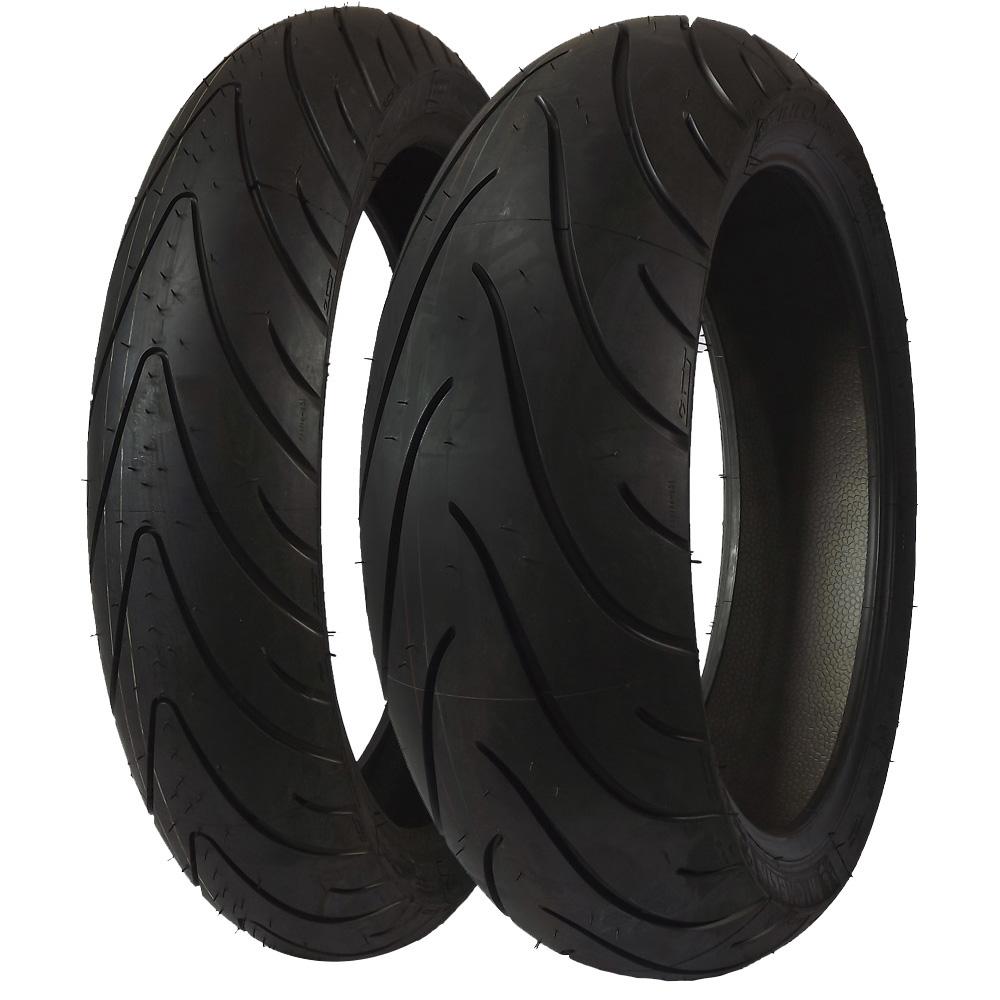 combo pneu dianteiro 120 70r17 traseiro 190 50r17 michelin pilot road 2 2ct tl moto. Black Bedroom Furniture Sets. Home Design Ideas