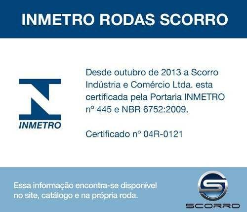 Jogo de 4 Rodas de Liga-Leve Aro 14 Scorro S-195 4x100 - COR: PRATA DIAMANTADA