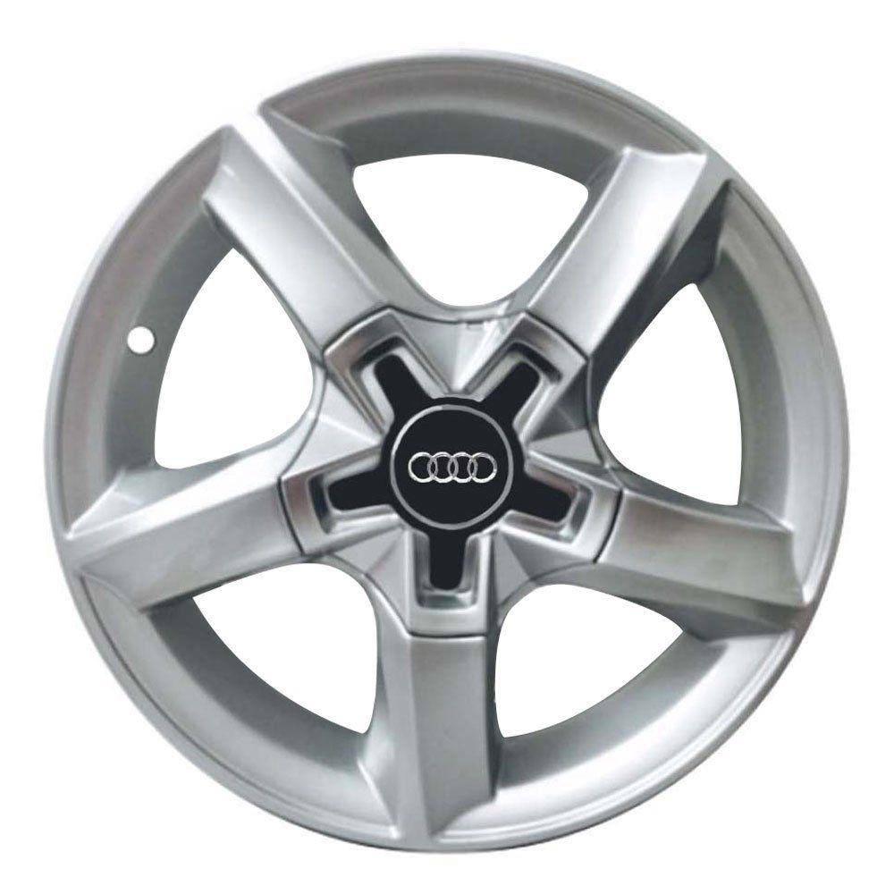 Jogo de 4 Rodas de Liga-Leve Aro 15 Zunky ZK-520 Multi (4x98 à 4x108) (Modelo Audi) - COR: PRATA