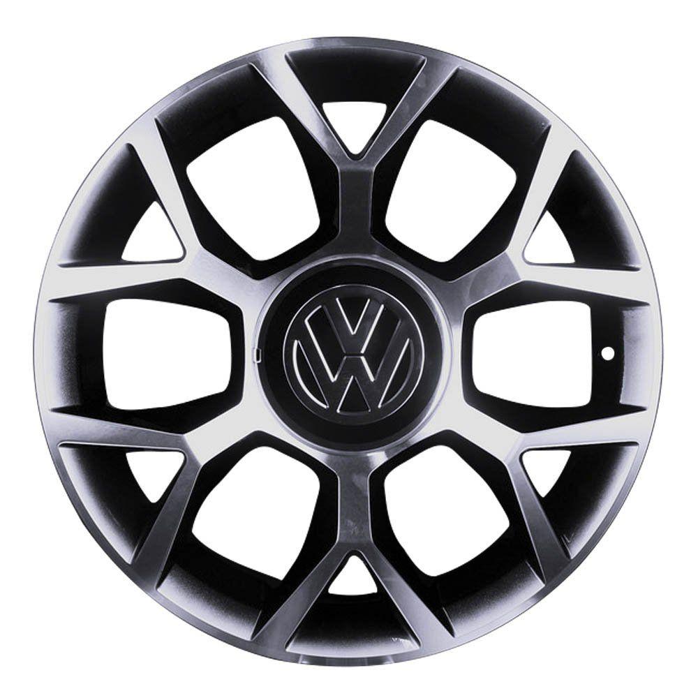 Jogo de 4 Rodas de Liga-Leve Aro 17 BRW-970 Multi (4x98 à 4x108) (Original VW UP) - COR: PRETA DIAMANTADA
