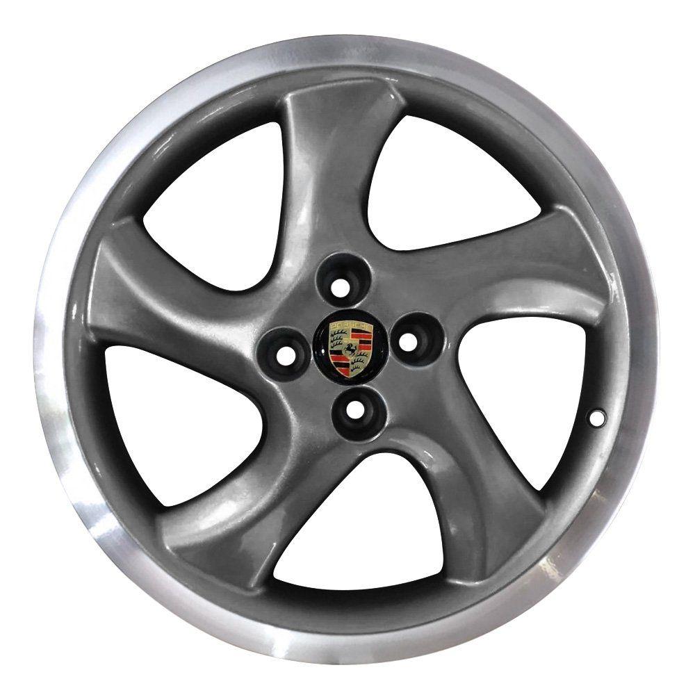 Jogo de 4 Rodas de Liga-Leve Aro 17 Zunky ZK-620 4x100 (Modelo Porsche) - COR: GRAFITE DIAMANTADA