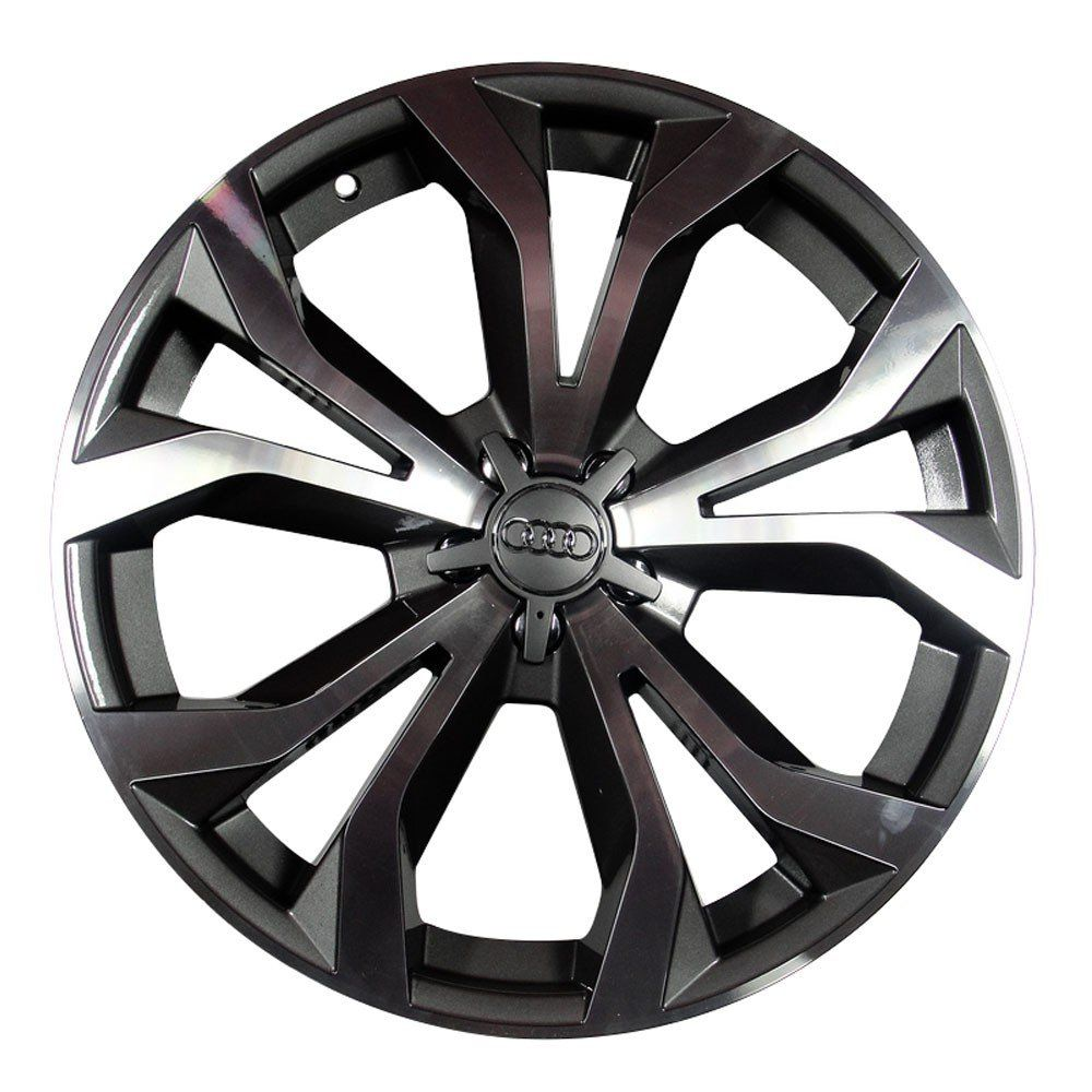 Jogo de 4 Rodas de Liga-Leve Aro 18 Krmai R35 4x108 (Original Audi RS6) - COR: GRAFITE DIAMANTADA