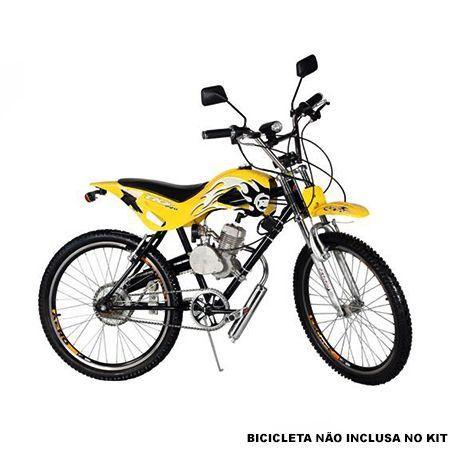 Kit Motor para Bicicleta 80cc a Gasolina Completo - PRATA