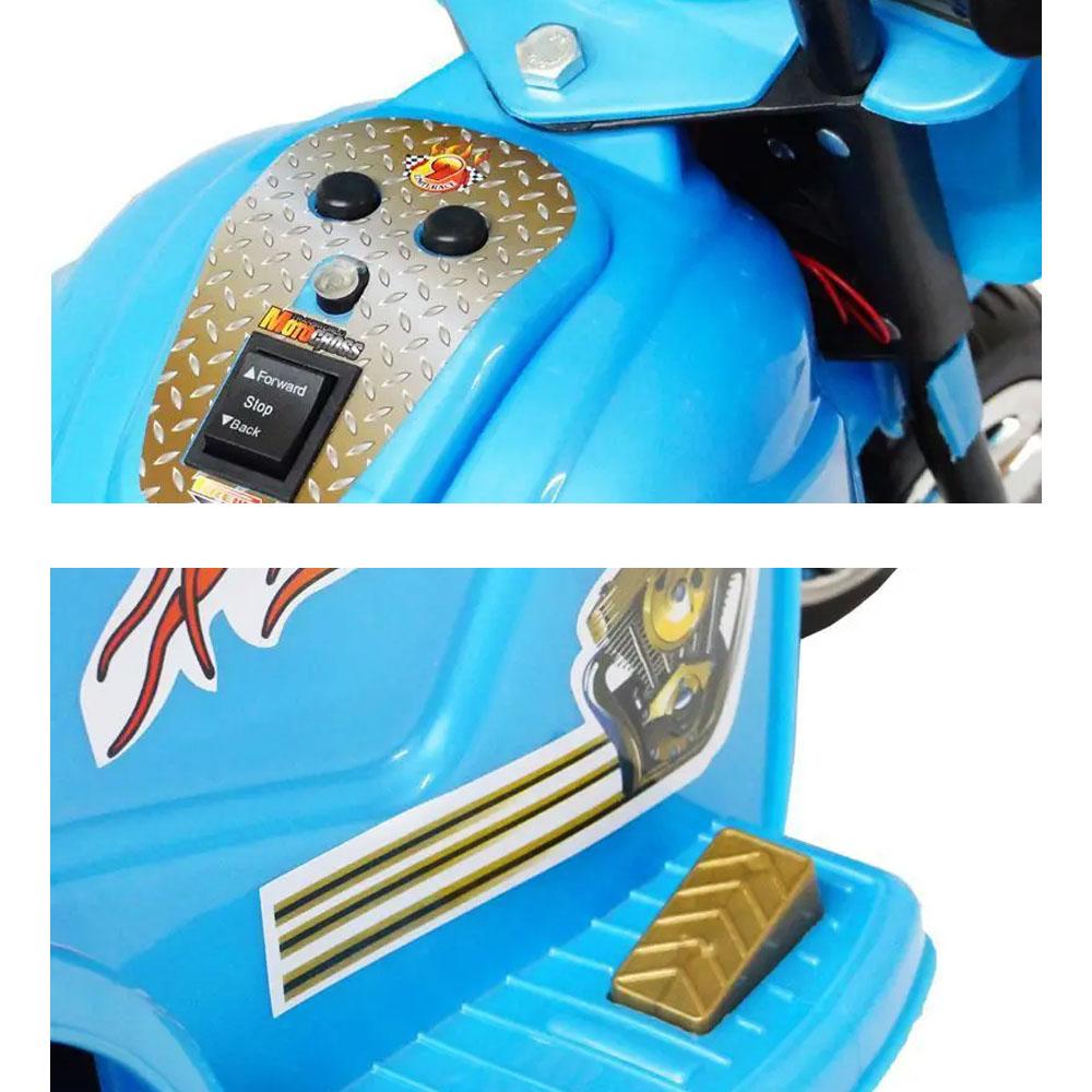 Mini Moto Elétrica Police 6V BW006AZ - Azul