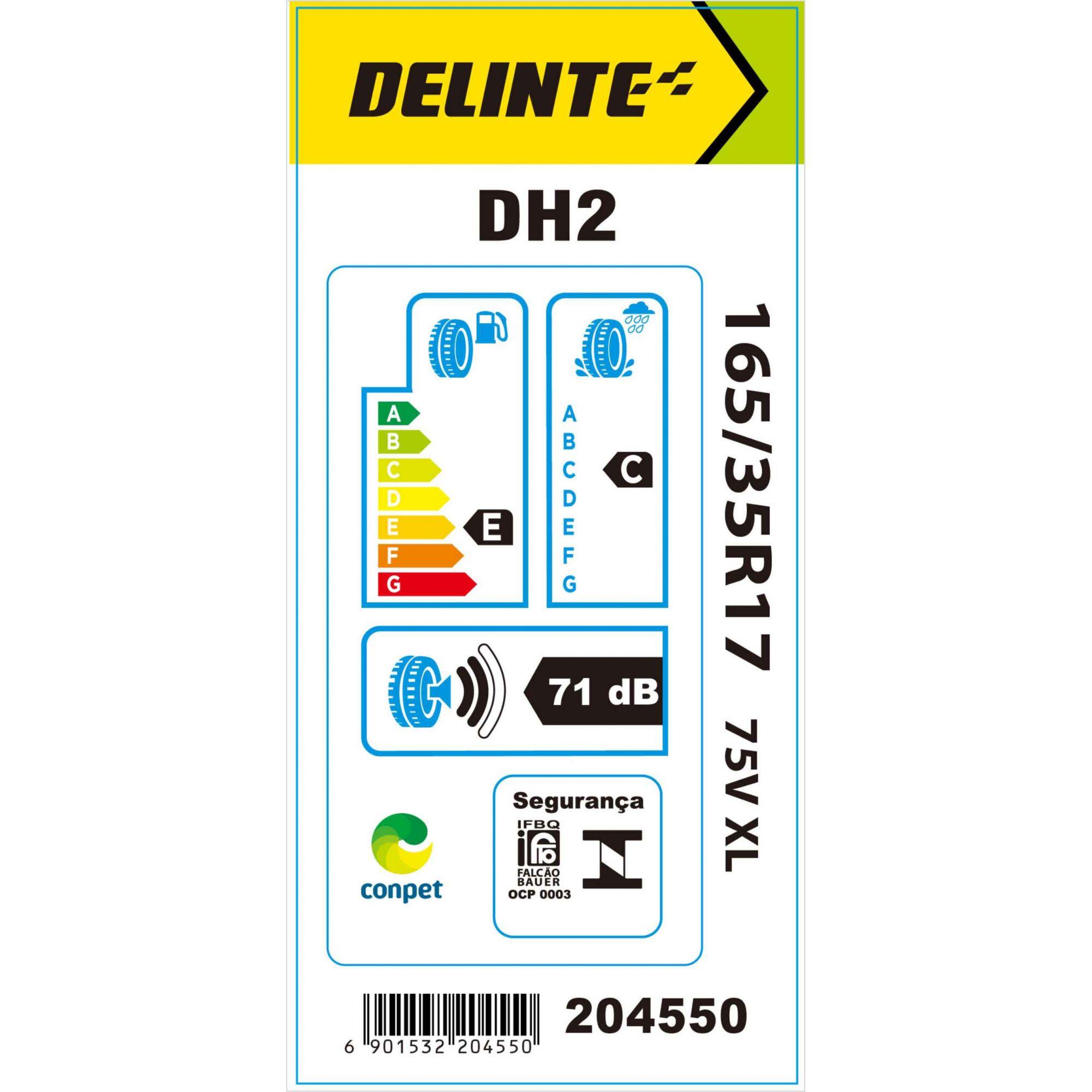 Pneu 165/35R17 Delinte DH2 75V