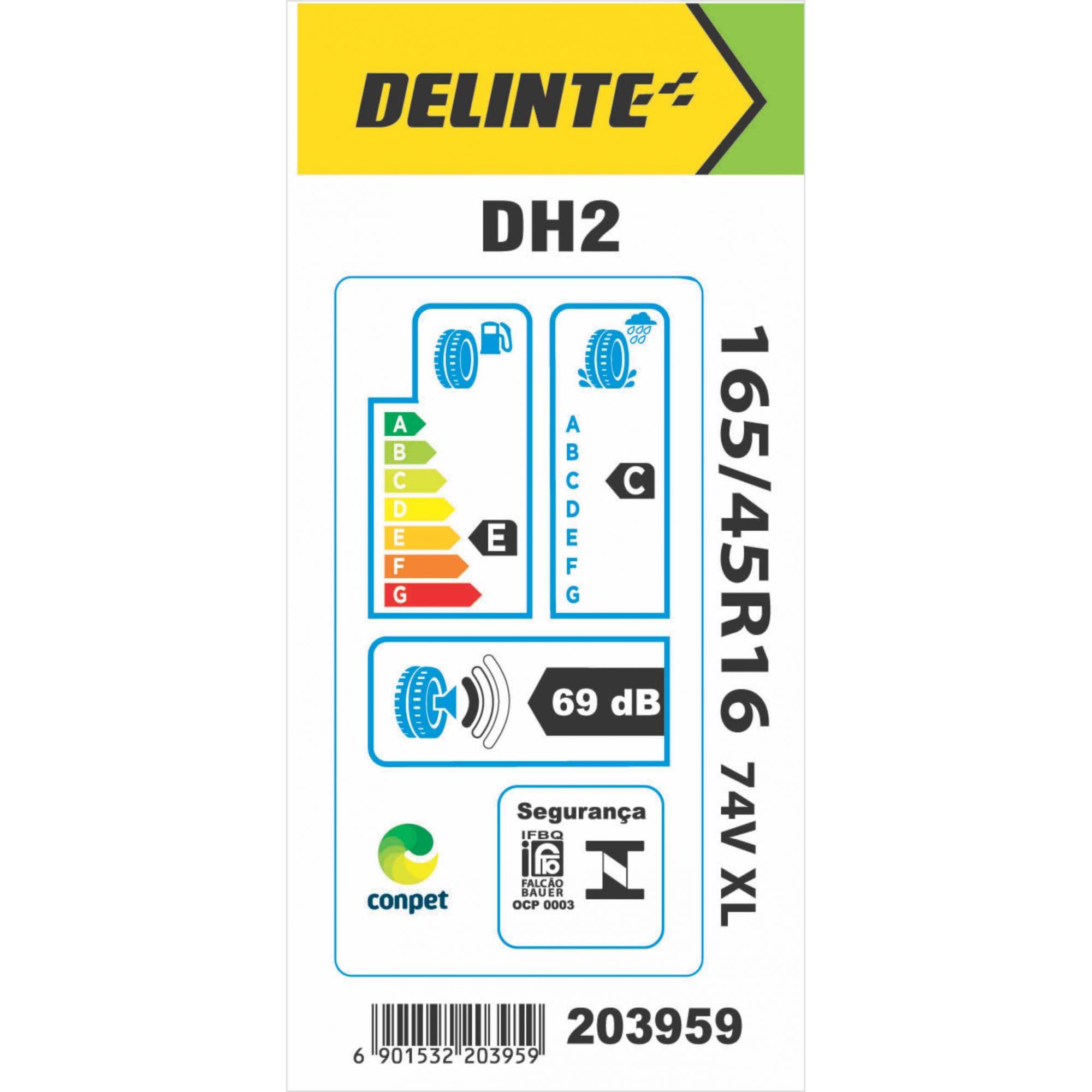 Pneu 165/45R16 Delinte DH2 74V