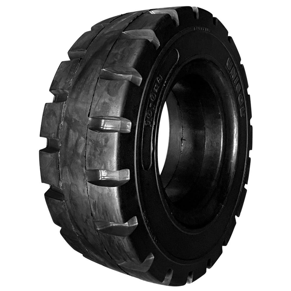 Pneu 16x6-8 Unisol Totalflex Maciço Preto (Roda 4.33 polegadas) - Empilhadeira