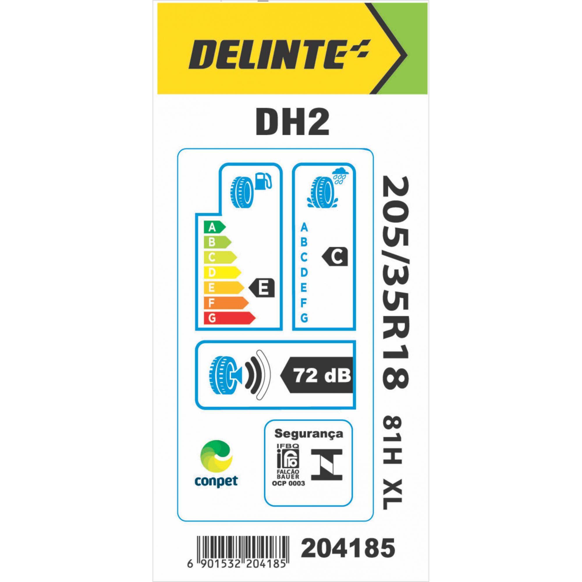 Pneu 205/35R18 Delinte DH2 81H