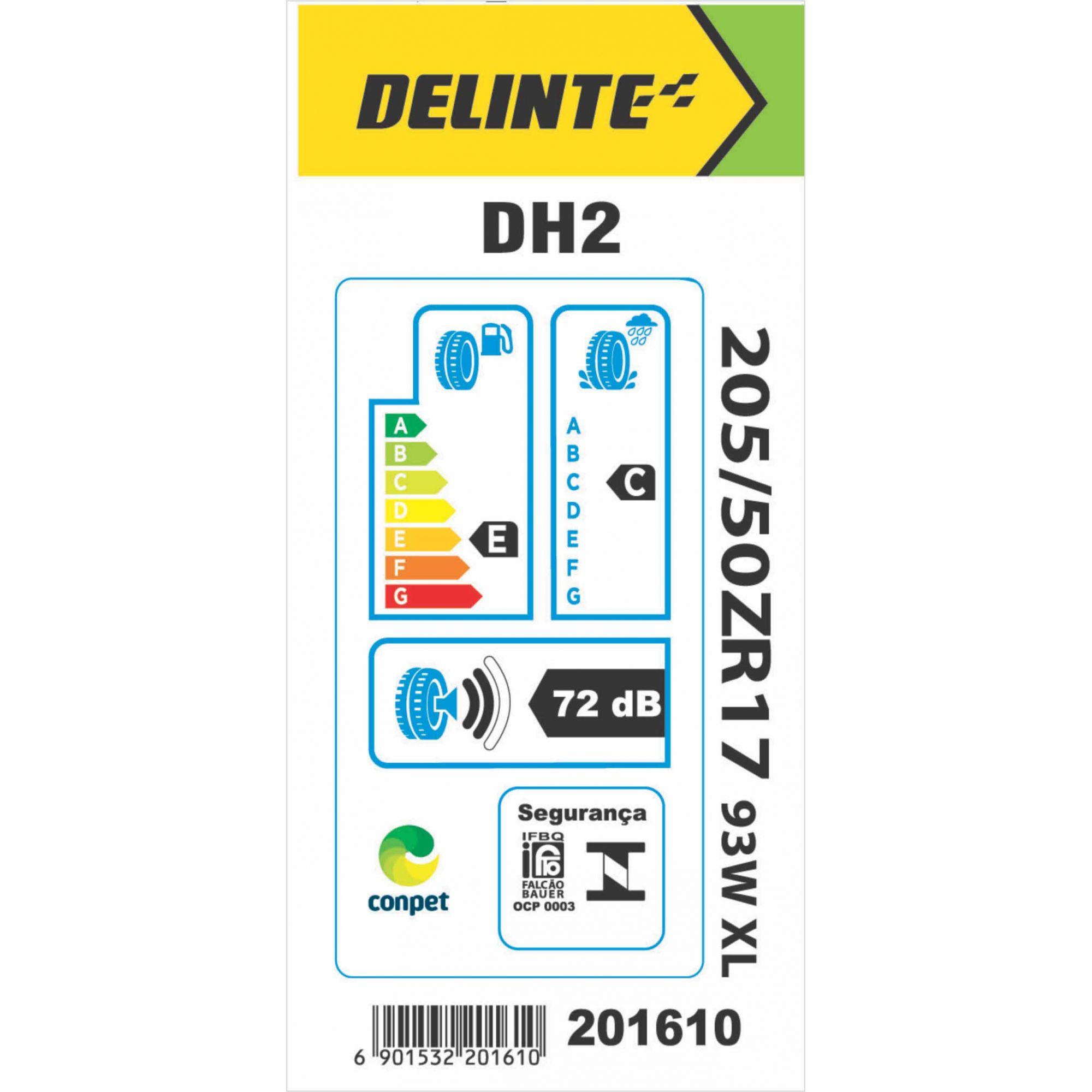 Pneu 205/50R17 Delinte DH2 93W