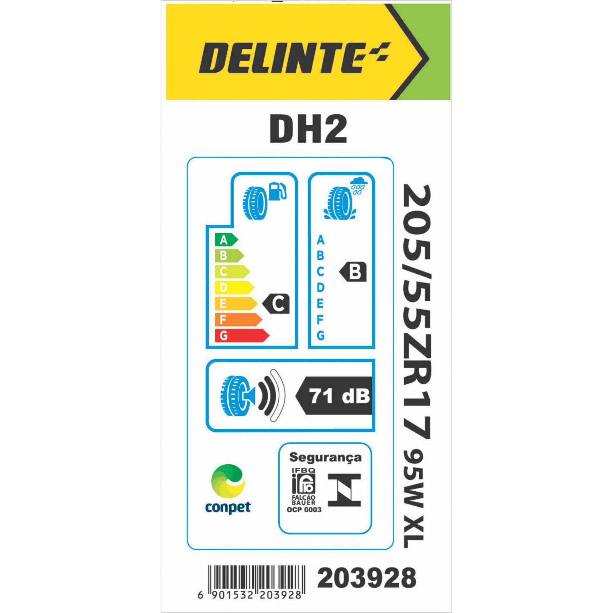 Pneu 205/55R17 Delinte DH2 95W