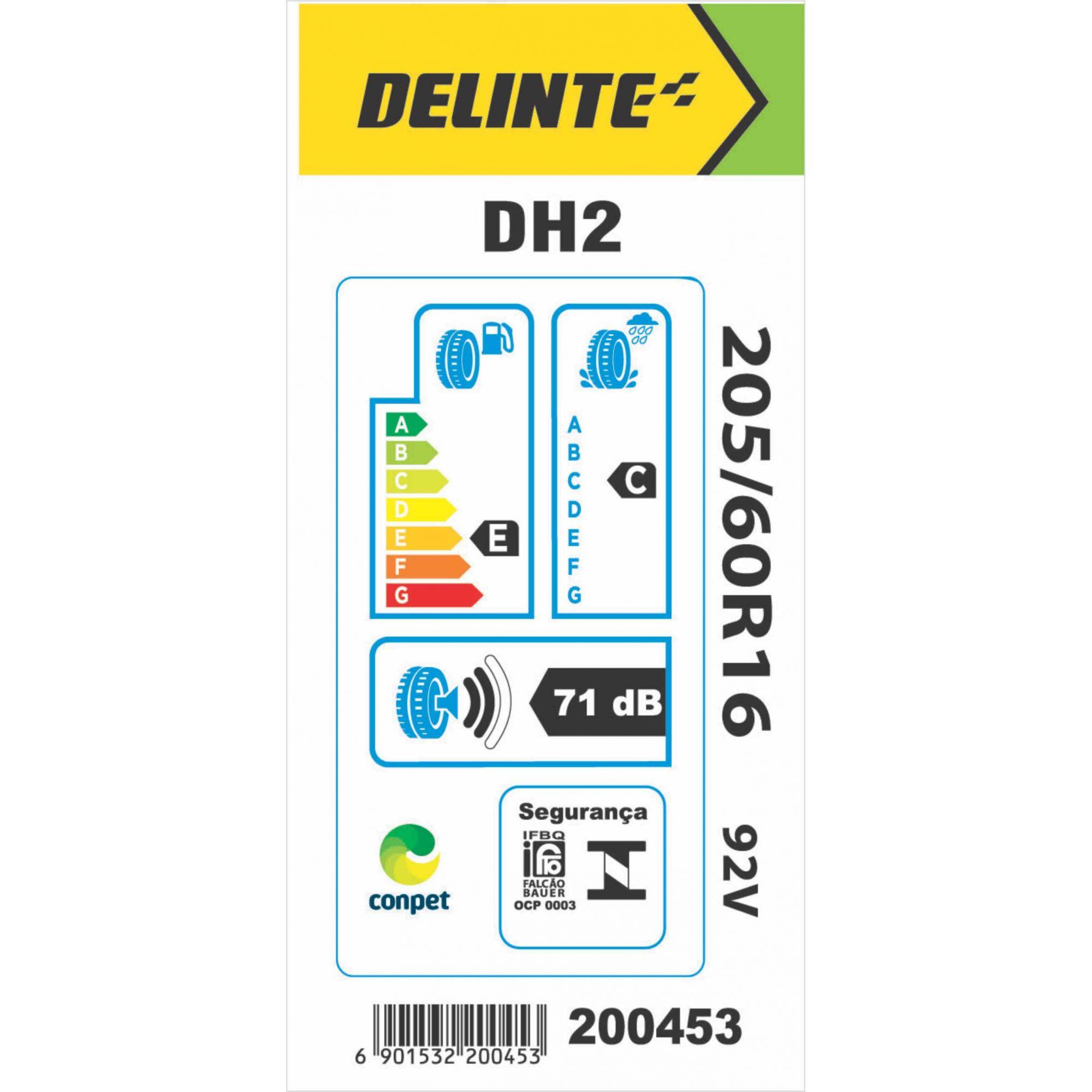 Pneu 205/60R16 Delinte DH2 92V