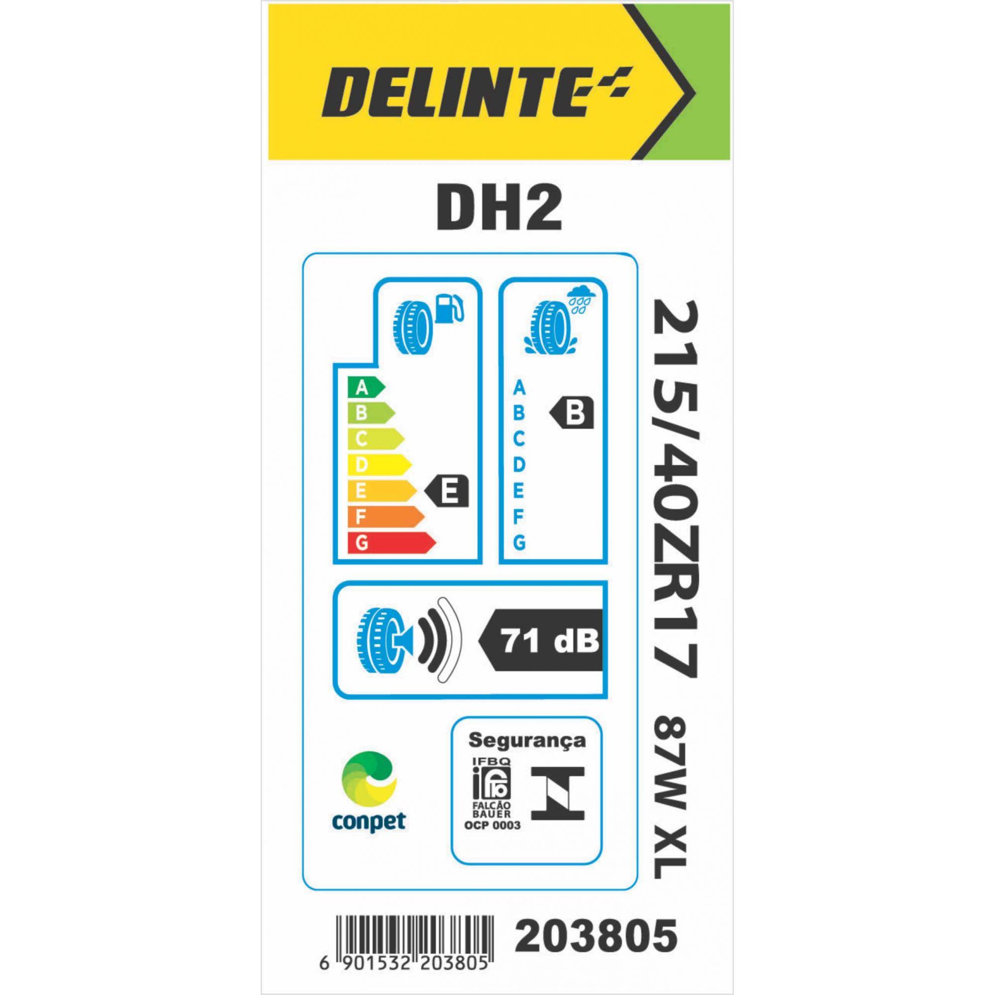 Pneu 215/40R17 Delinte DH2 87W