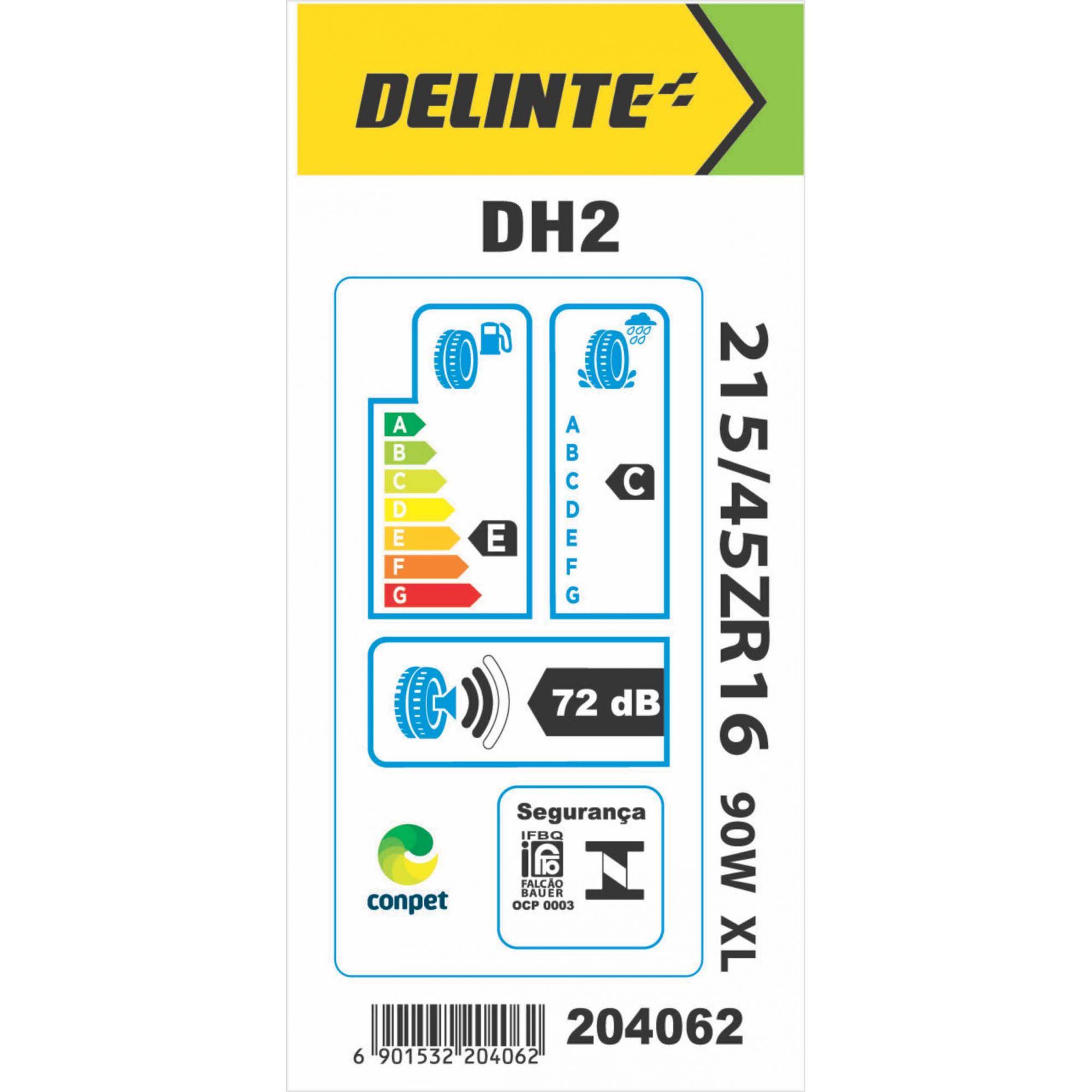 Pneu 215/45R16 Delinte DH2 90W