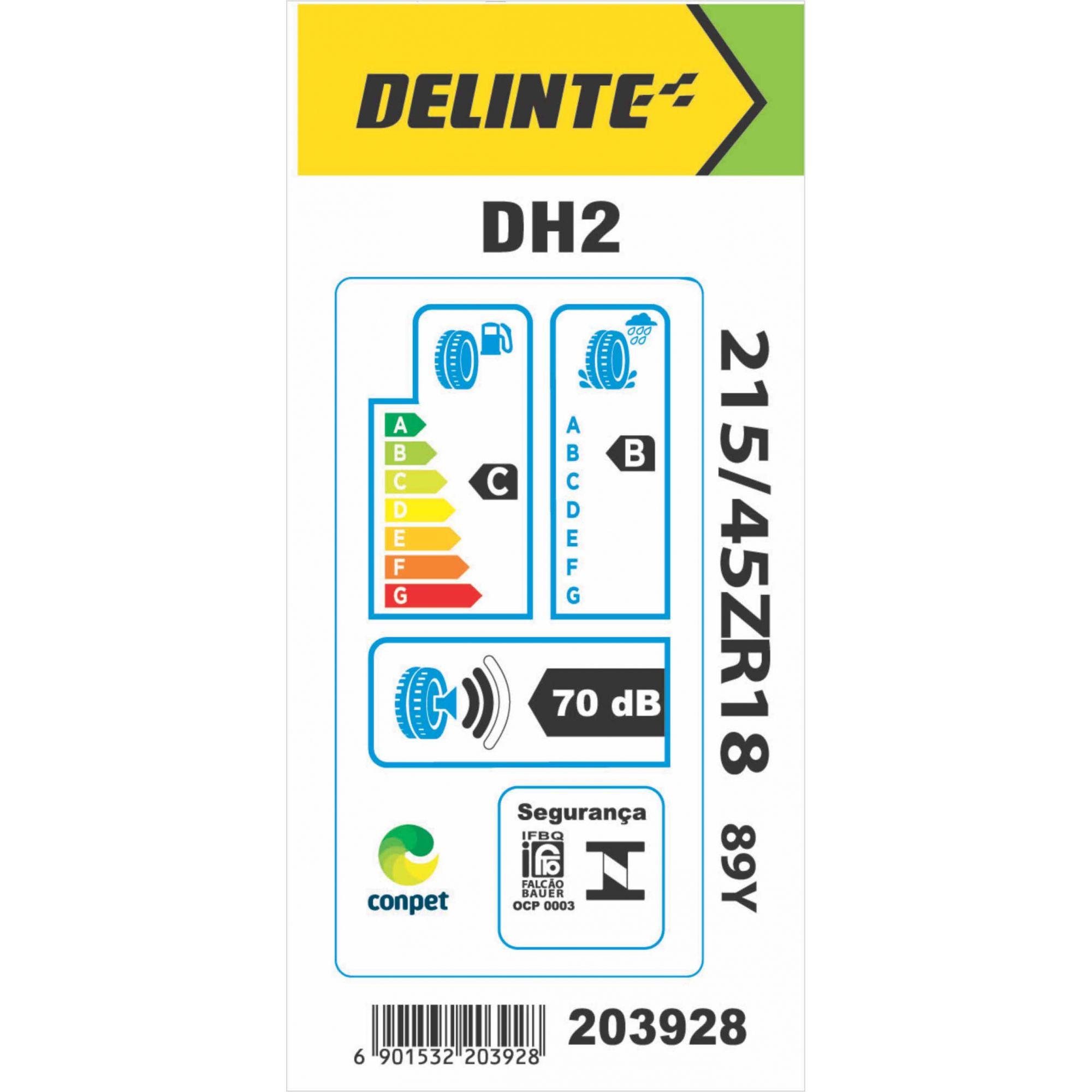 Pneu 215/45R18 Delinte DH2 89Y