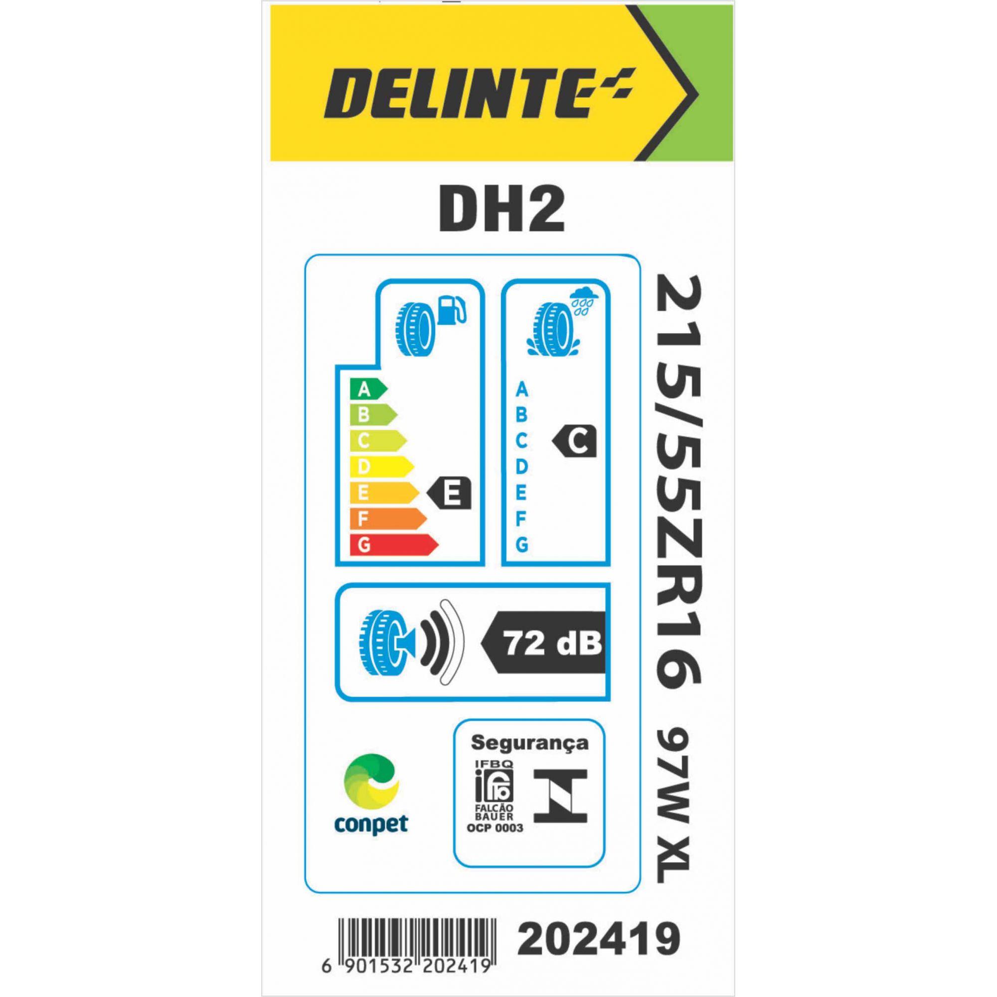 Pneu 215/55R16 Delinte DH2 97W