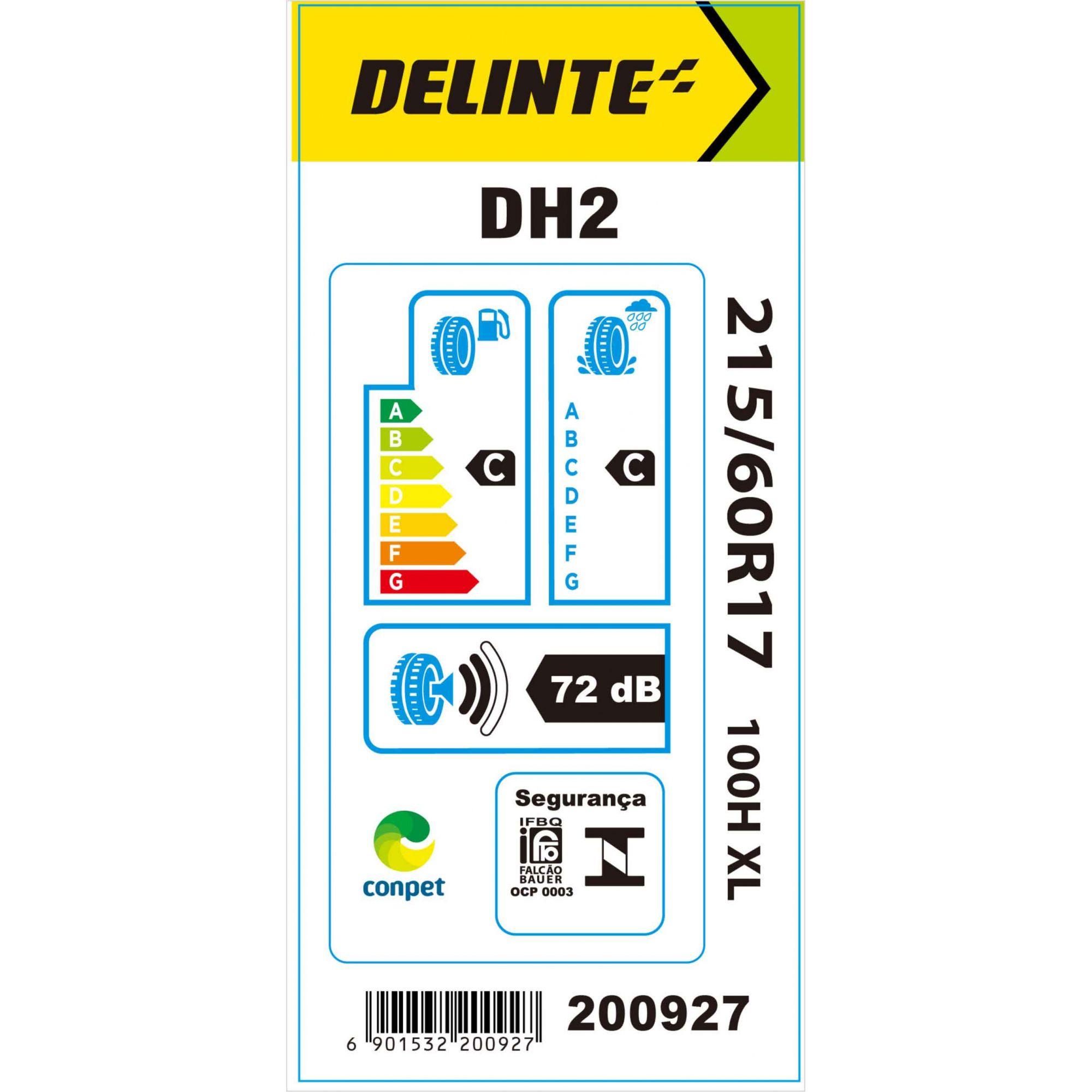 Pneu 215/60R17 Delinte DH2 100H