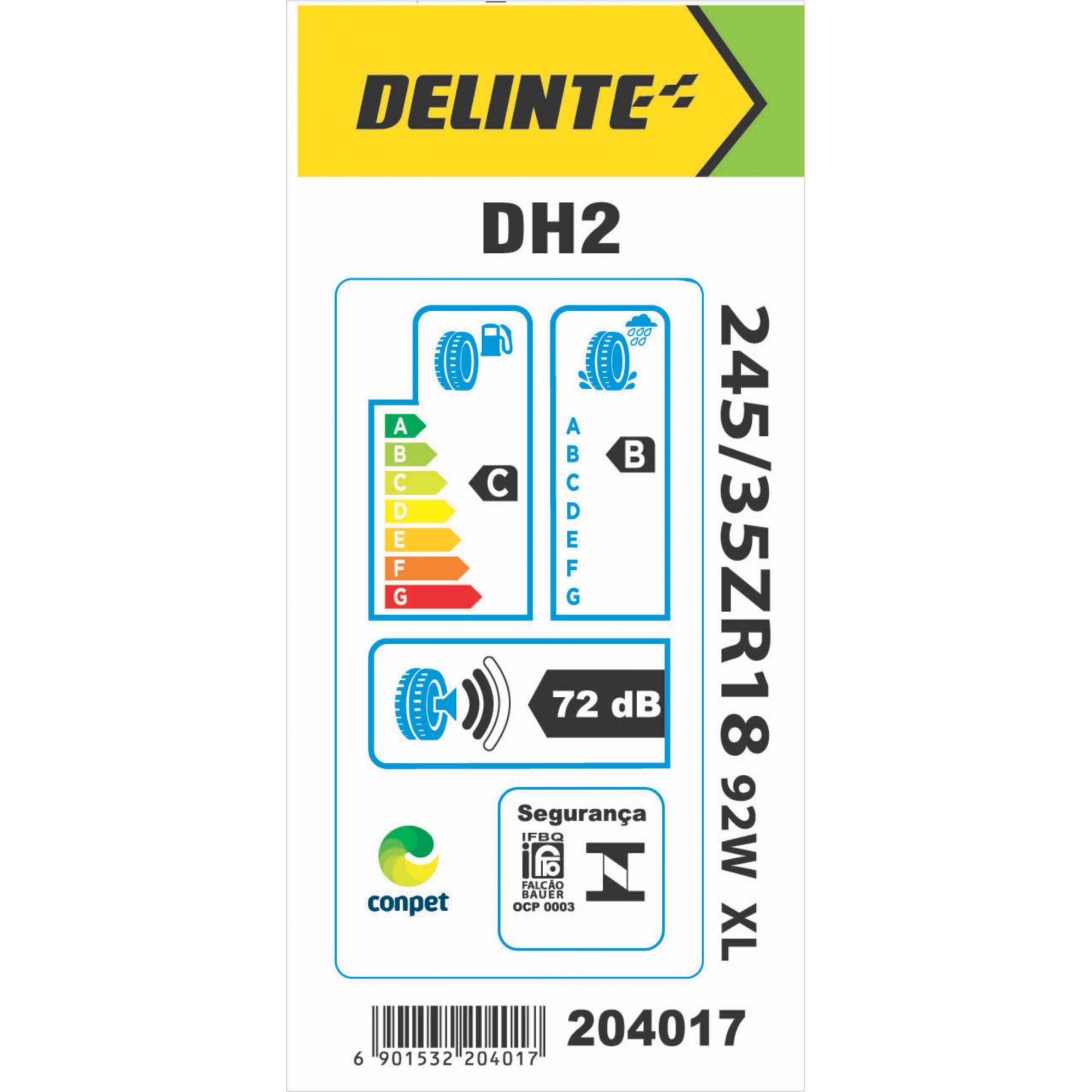 Pneu 245/35R18 Delinte DH2 92W