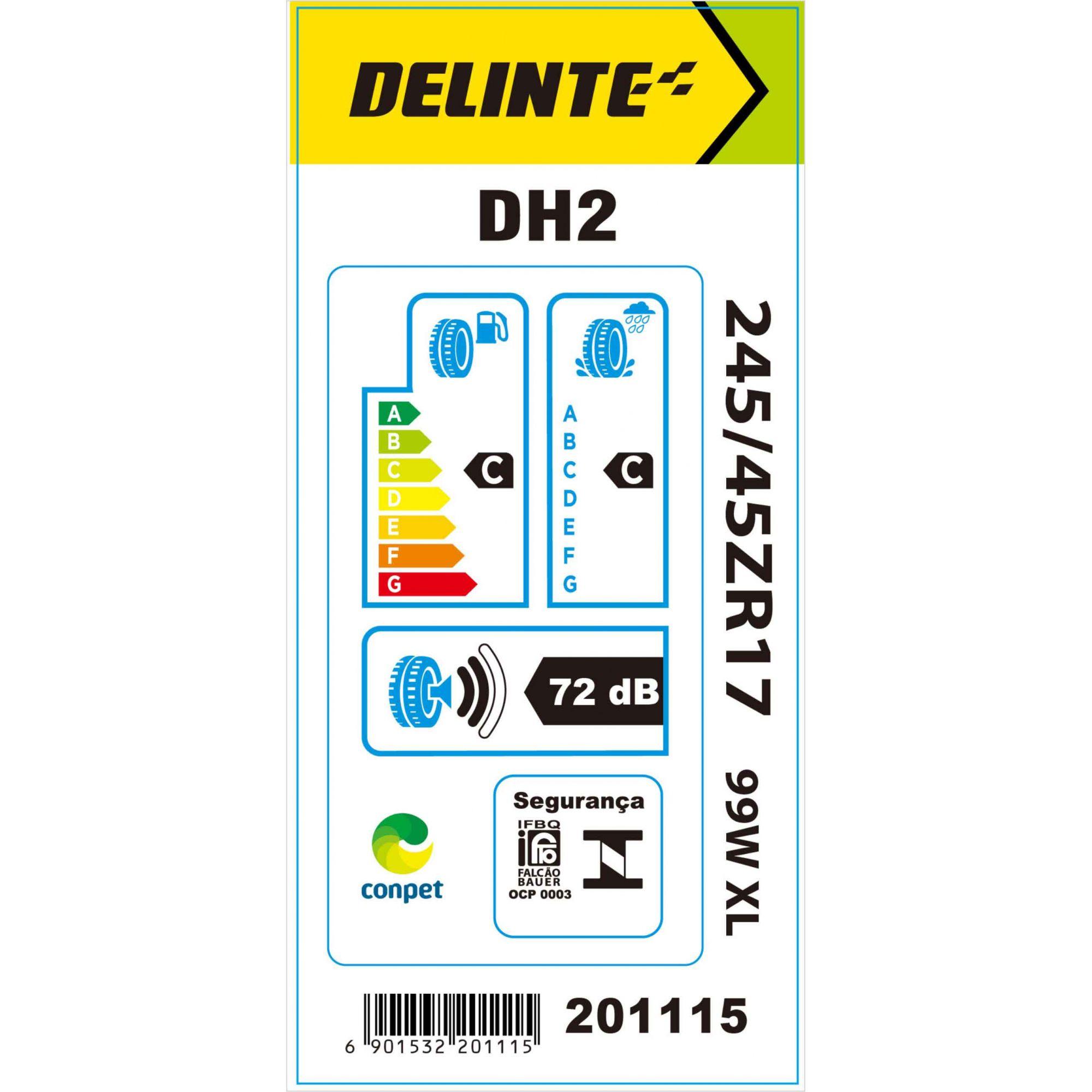 Pneu 245/45R17 Delinte DH2 99W