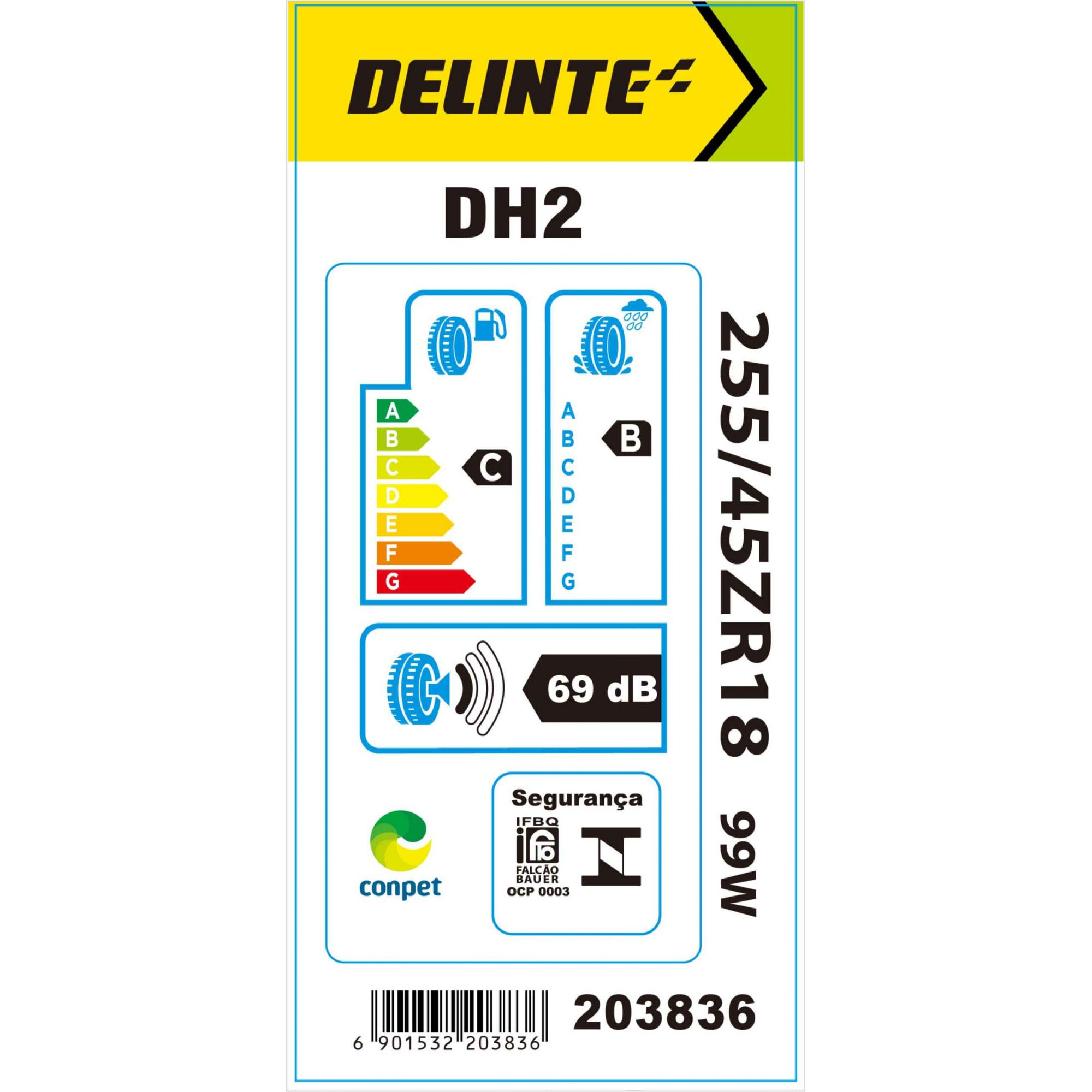 Pneu 255/45R18 Delinte DH2 99W