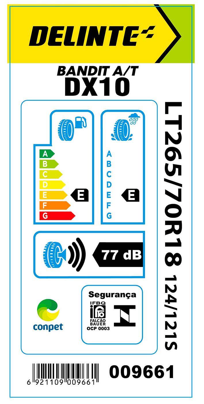 Pneu 265/70R18 Delinte DX10 Bandit A/T 124/121S