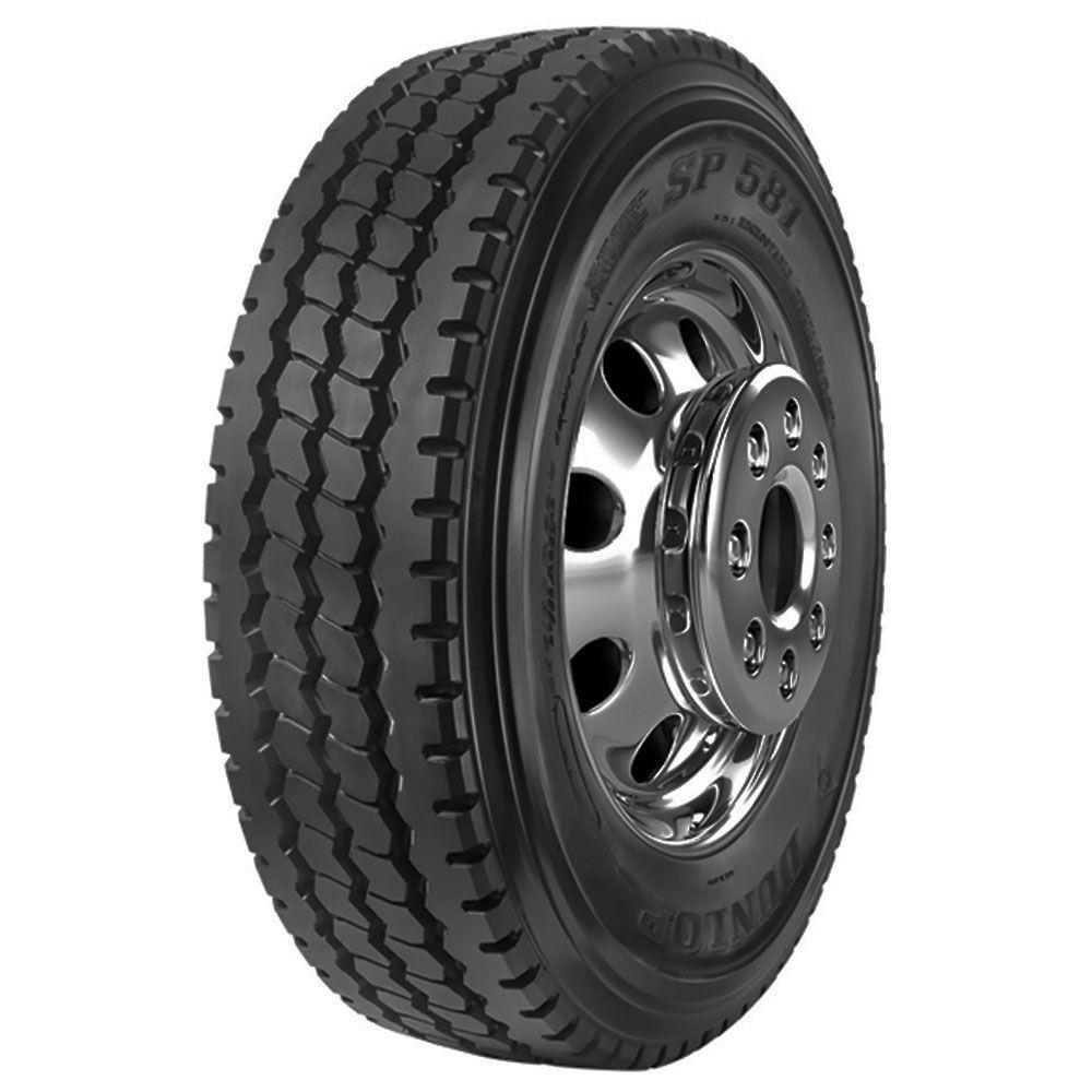 Pneu 295/80R22,5 Dunlop SP581 Semi Borrachudo 152/148K 16 Lonas