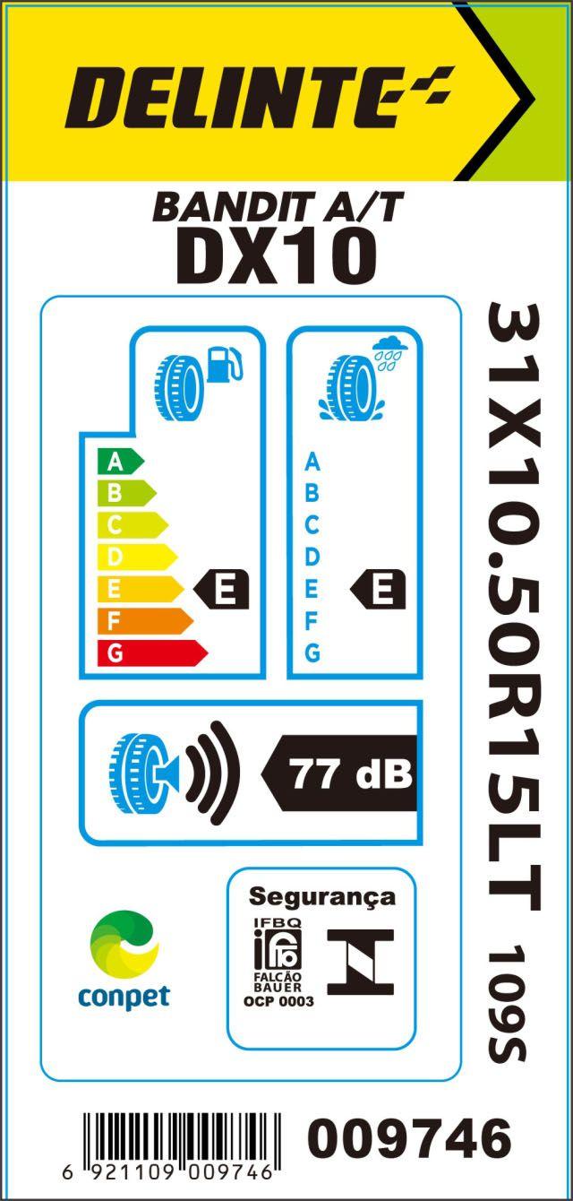 Pneu 31x10,5R15 Delinte DX10 Bandit A/T 109S