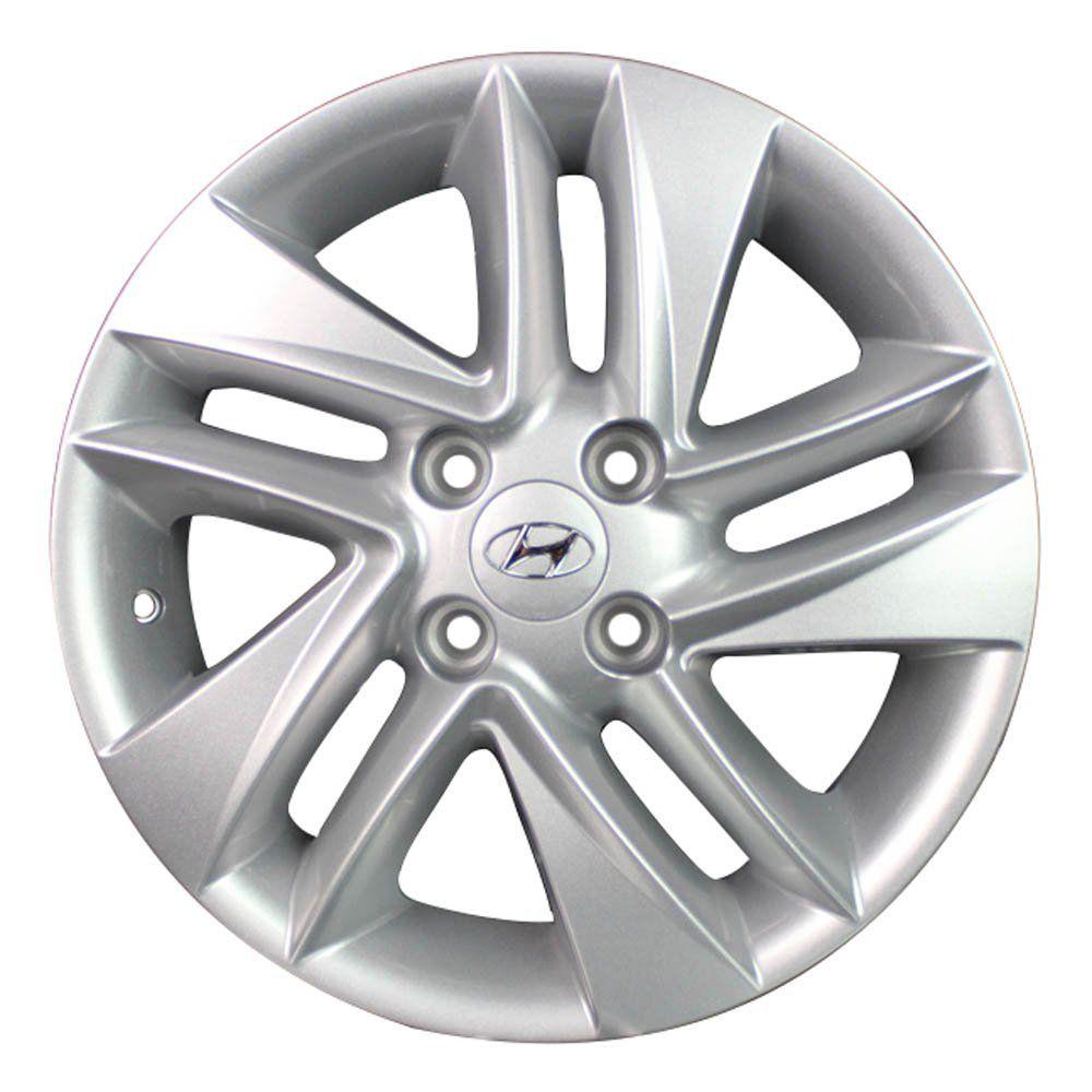 Roda de Liga-Leve Aro 14 Krmai R43 (Original Hyundai HB20) - COR: PRATA (Somente 1 Unidade Disponível)
