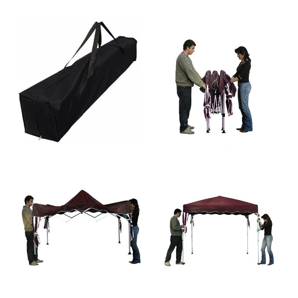 Tenda Gazebo 2,4x2,4m Articulado Importway Bordô IWGZA240BO
